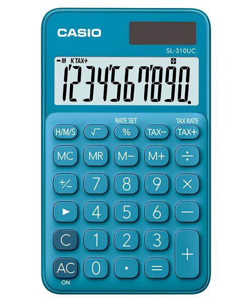 Kalkulatory Casio Kieszonkowe Stylish Kolorowe Do szkoły Do biura i domu SL-310UC-BU-S