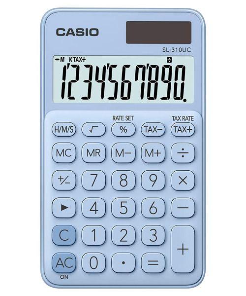 Kalkulatory Casio Kieszonkowe Stylish Kolorowe Do szkoły Do biura i domu SL-310UC-LB-S