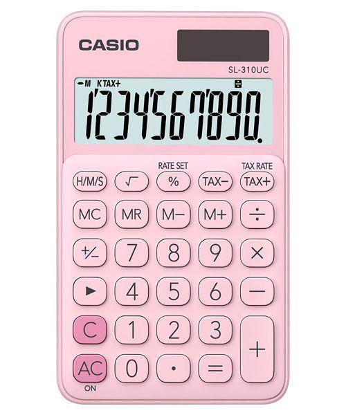 Kalkulatory Casio Kieszonkowe Stylish Kolorowe Do szkoły Do biura i domu SL-310UC-PK-S