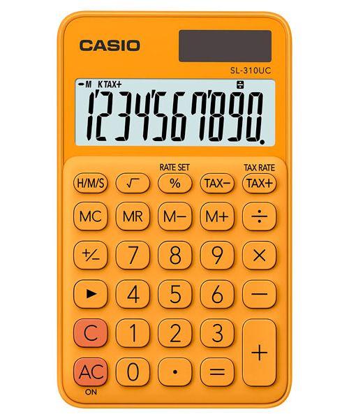 Kalkulatory Casio Kieszonkowe Stylish Kolorowe Do szkoły Do biura i domu SL-310UC-RG-S