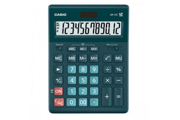 Kalkulatory Biurowe Casio Stylish Kolorowe Do biura i domu Do księgowości Do banku Do centrum logistycznego/magazynu GR-12C-DG