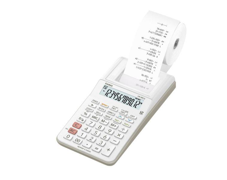 Kalkulatory Drukujące Casio Do biura i domu Do banku HR-8RCE WH S Z ZASILACZEM