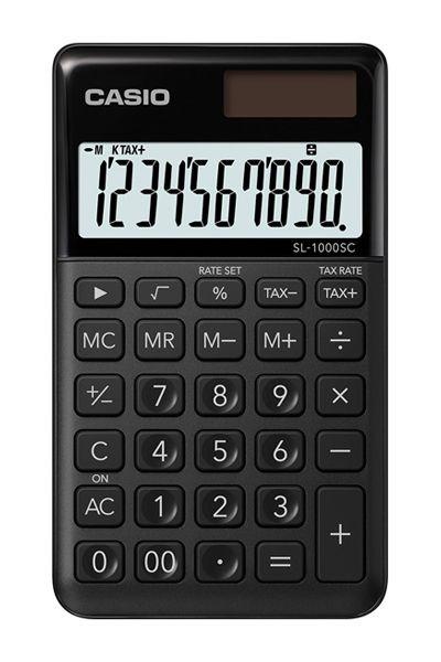 Kalkulatory Casio Kieszonkowe Stylish Kolorowe Do szkoły Do biura i domu SL-1000SC-BK-S
