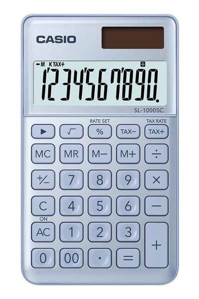 Kalkulatory Casio Kieszonkowe Stylish Kolorowe Do szkoły Do biura i domu SL-1000SC-BU-S