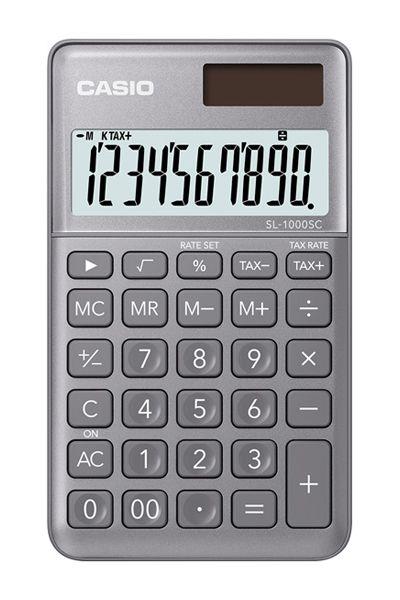 Kalkulatory Casio Kieszonkowe Stylish Kolorowe Do szkoły Do biura i domu SL-1000SC-GY-S