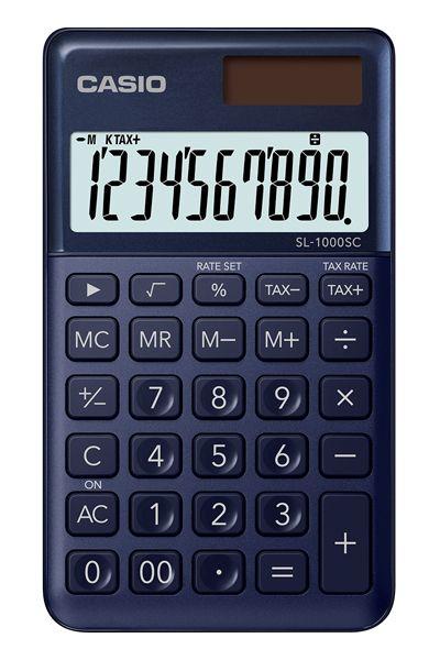 Kalkulatory Casio Kieszonkowe Stylish Kolorowe Do szkoły Do biura i domu SL-1000SC-NY-S