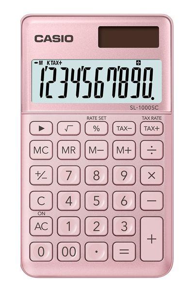 Kalkulatory Casio Kieszonkowe Stylish Kolorowe Do szkoły Do biura i domu SL-1000SC-PK-S