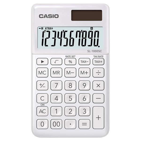 Kalkulatory Casio Kieszonkowe Stylish Kolorowe Do szkoły Do biura i domu SL-1000SC-WE-S