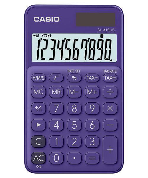 Kalkulatory Casio Kieszonkowe Stylish Kolorowe Do szkoły Do biura i domu SL-310UC-PL-S