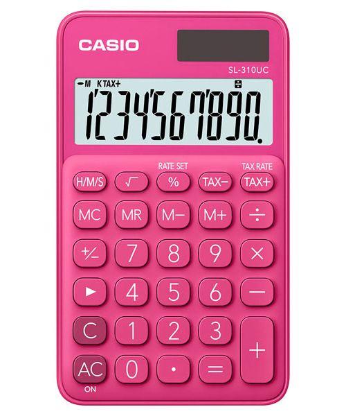 Kalkulatory Casio Kieszonkowe Stylish Kolorowe Do szkoły Do biura i domu SL-310UC-RD-S