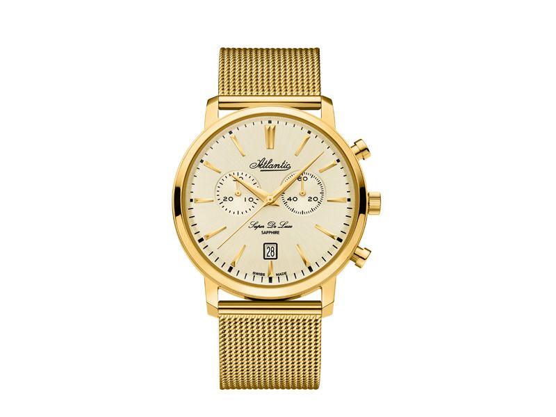 Zegarki Atlantic Timetrend Atlantic Dla mężczyzny Super de luxe Eleganckie powyżej 1000 zł powyżej 1000 zł Atlantic Super De Luxe Chrono 64456.45.31
